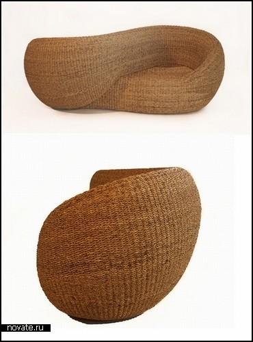 Moebius Double Armchair. Двойное кресло-диван для влюбленных.