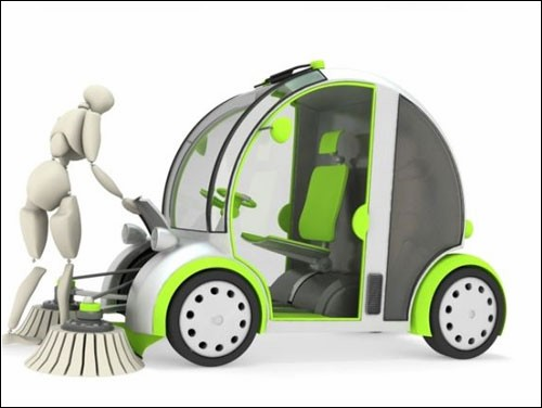 Автомобиль-уборщик Street Cleaner от Алана Кравченко (Alan Kravchenko)