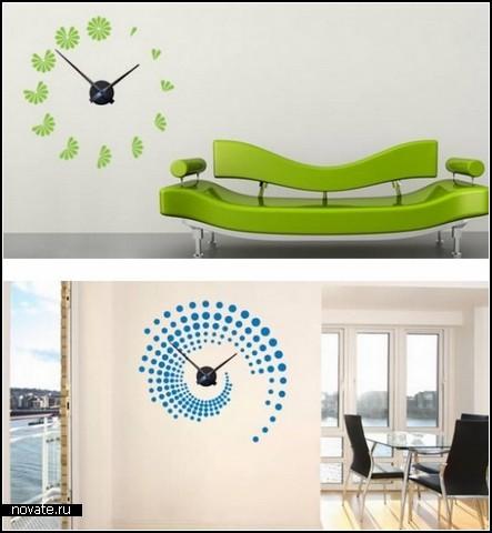 Забавное в интерьерах ( необычное, странное, смешное.... все сюда) Wall-Clocks-Wall-Stickers_3