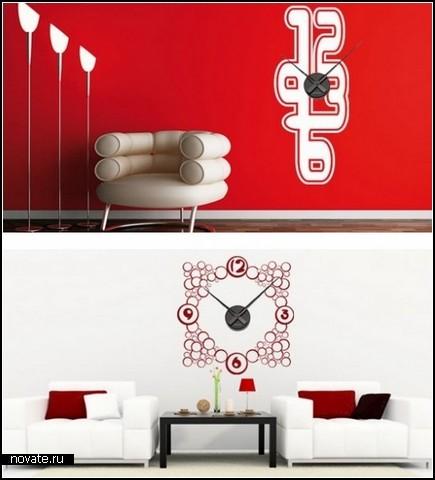 Забавное в интерьерах ( необычное, странное, смешное.... все сюда) Wall-Clocks-Wall-Stickers_6