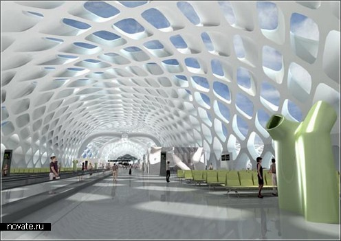Концепт аэропорта в Шенжене