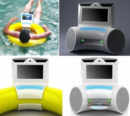 Плавающий и загорающий компьютер