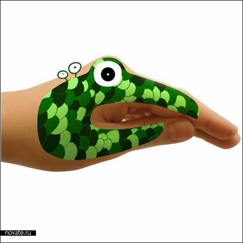 Переводные картинки для детских забав Monster and Animal Hands
