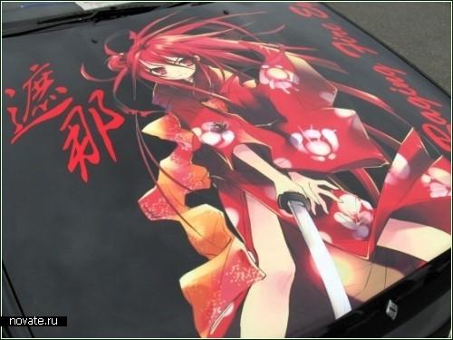 Японские машины в стиле аниме
