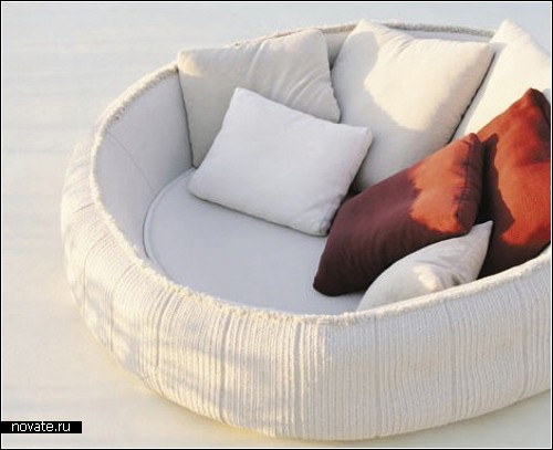 Aqua collection. Мягкая мебель для улицы от Paola Lenti