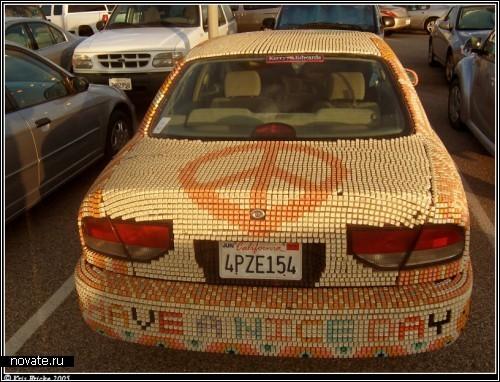 Автомобильный арт. *Жертвы* автолюбителей-фантазеров