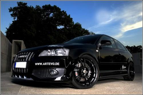 Audi S3 Evo от Artevo - стиль и грация черной кошки