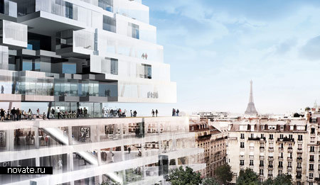 Концептуальная парижская пирамида-небоскреб