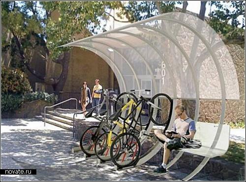 Дом-дуга House Arc от создателя велосипедных стоек Bike Arc. Концепт