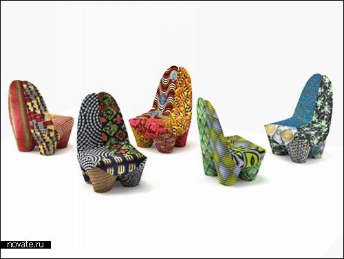 Разноцветные кресла Binta. Дизайн Филиппа Бештенхейдера (Philippe Bestenheider)