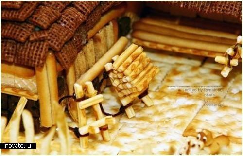 Дома, города и прочее из печенья и вафель