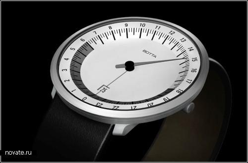 Часы с одной стрелкой и 24-часовым циферблатом