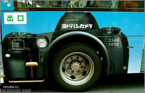 Передвижное творчество: гафика на автобусах