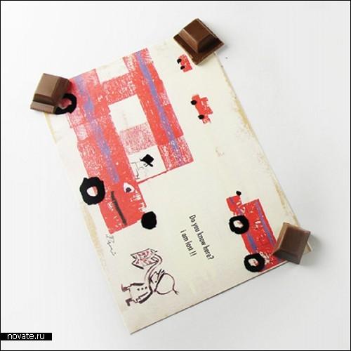 Chocolate Sweet Magnet - шоколадные магниты на холодильник