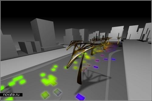 *Городские листья* для освещения улиц. Фонари будущего от Marco De Gregorio