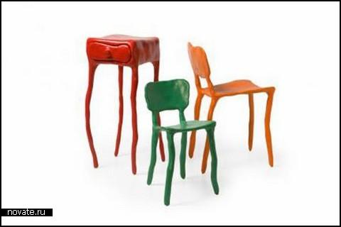 Глиняная мебель Clay Furniture от Maarten Baas
