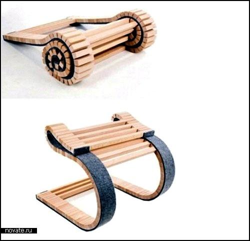 Clever Chair. Стул-трубочка из деревянных брусочков