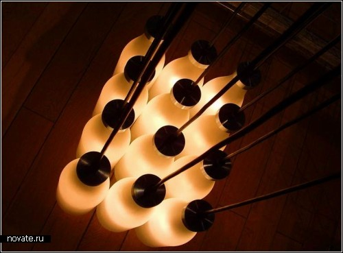Milkbottle Lamp и Coffee-Light Lamp - посуда, которая освещает жизнь