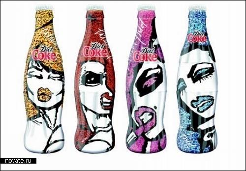 Новый дизайн для бутылочки с Coca-Cola. Варианты *гардероба*