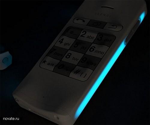Концептуальный телефон для людей, утративших зрение