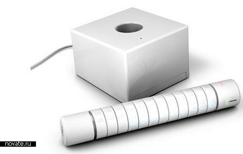 Мобильник будущего - цилиндр с колечками
