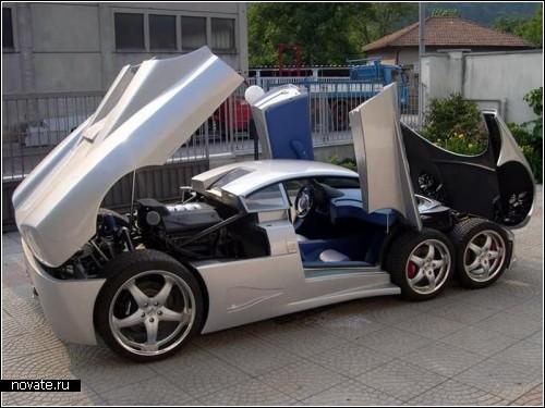 Спортивный суперкар о шести колесах