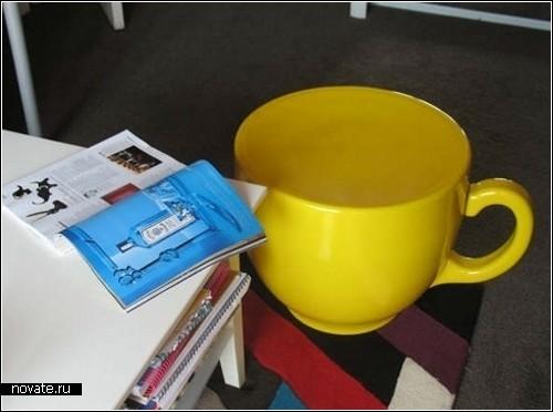 Tea Cup Stool. Креативный стул-чашка от Холли Палмер (Holly Palmer)
