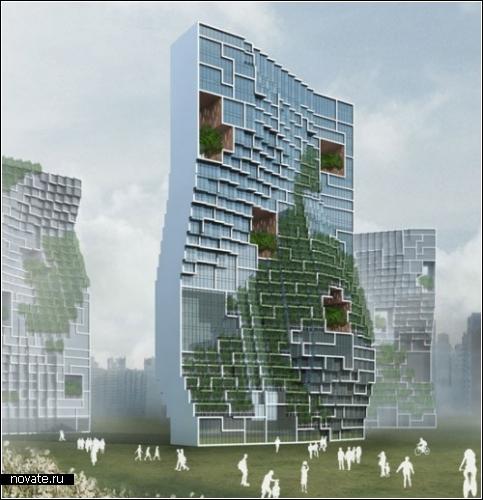 Дом для творческой интеллигенции. Dancing Appartements в Южной Корее