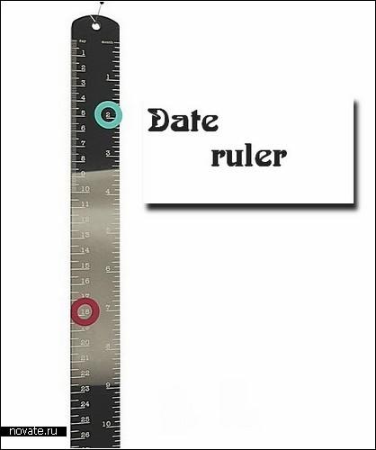 Календарь-линейка от Андре Клаузера (Andre Klauser)