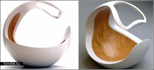 Детская кресло-кроватка в форме яичной скорлупы