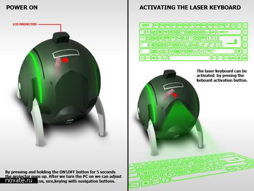 Лазерная клавиатура вместо обычной