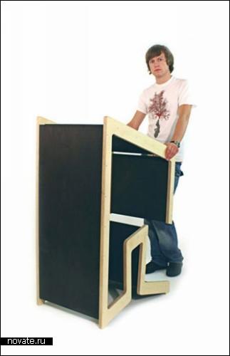 Ecobank. Компактная мебель для учебных классов