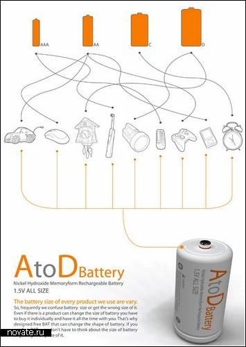 Батарейка AtoD, которая подойдет к любому устройству