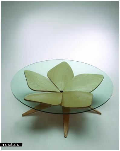 Цветочный стол Hana Table от японского дизайнера Shige Hasegawa