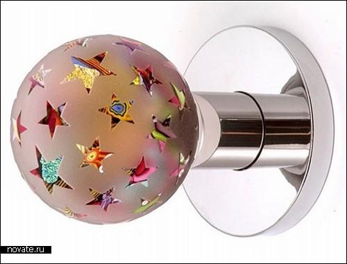 Fashion style дверных ручек. Дизайн в стиле art glass