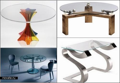 Обзор дизайнерских столиков со стеклянной столешницей