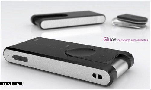 Gluos - концепт приспособления-клипсы для определения уровня сахара в крови