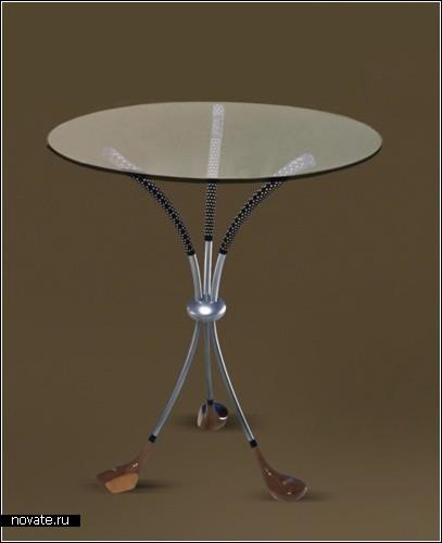Эксклюзивная клубная мебель из клюшек для гольфа