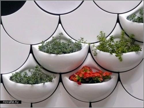 Green Pockets - керамические настенные *кармашки* для растений
