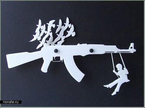 The gun rack organizer - *оружие* для пацифистов