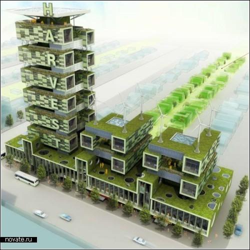Проект фермы-небоскреба Harvest green project в Ванкувере