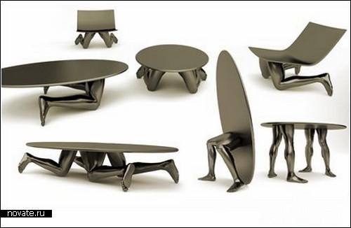Human furniture от Samal design. Мебель, воспевающая красоту человеческого тела