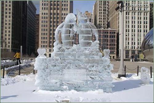 Ледяные скульптуры от мастеров айс-арта *ice art*