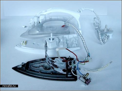 Утюг, работающий с помощью электромагнитной индукции. Концепт