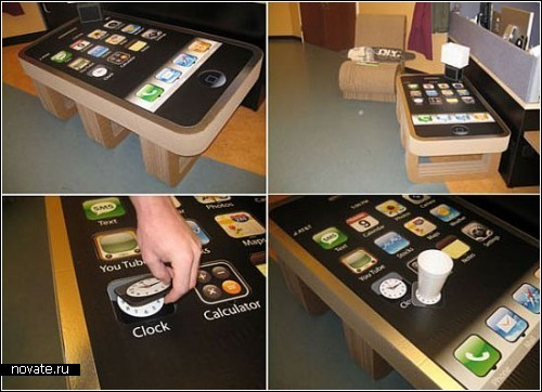 Журнальный столик iPhone coffee table от компании iLounge
