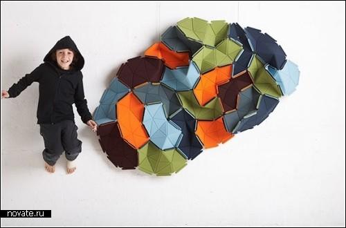 Kvadrat`ные облака из датского текстиля
