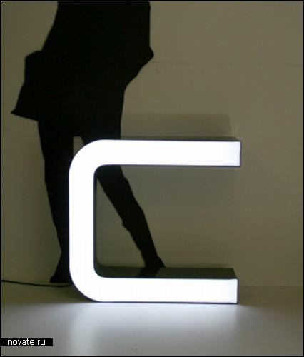 Буквы-фонари из старых светодиодных вывесок и табличек