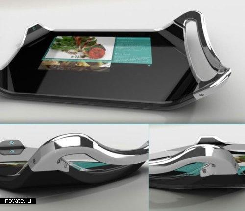 Разделочная досточка с сенсорным дисплеем-шпаргалкой