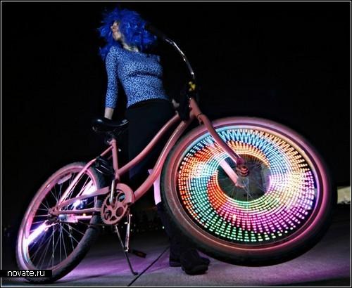 Велосипеды с LED-картинками на колесах от MonkeyLectric