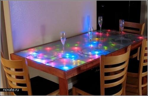 Интерактивный LED-столик с огоньками-*светлячками*